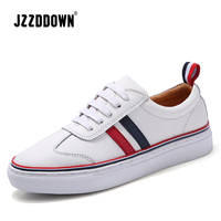 Genuine leather Women Canvas Vulcanize White Sneakers Shoes Ladies Flats Casual shoe Lace Up Luxury Moccasin Loafers Footwear