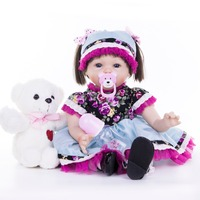 22inch Soft Silicone Reborn Dolls reborn baby collectible Dolls modeling princess toddler Kids Playmate kids Xmas gifts toys