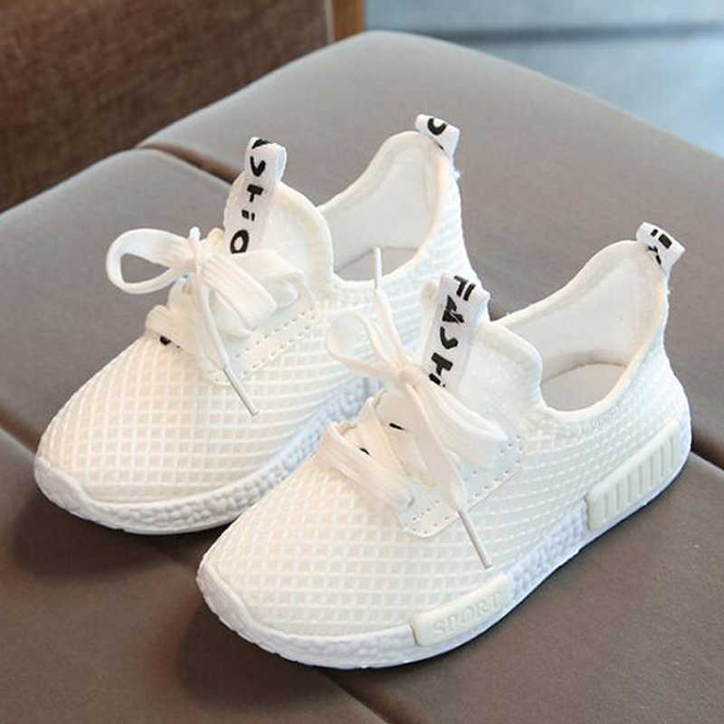 b8e385369725 Children shoes 2018 summer girls boys casual shoes breathable mesh kids  sneakers white chaussure enfant garcon