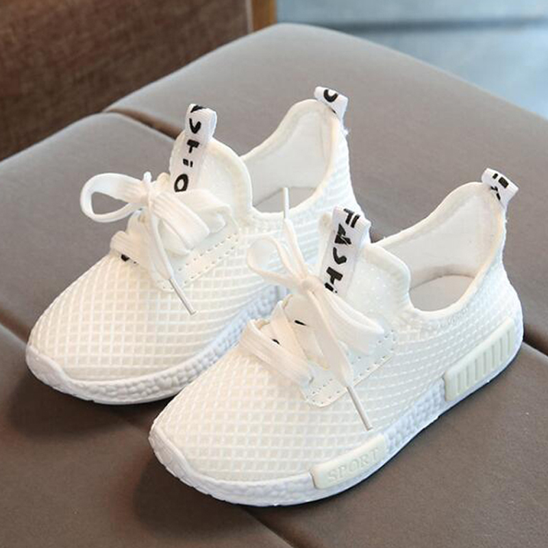 Children shoes 2018 summer girls boys casual shoes breathable mesh kids sneakers white chaussure enfant garcon fille uovo 2016 outdoor nonslip boys shoes kids breathable baby children shoes girls shoes tenis infantil chaussure fille size 26 35