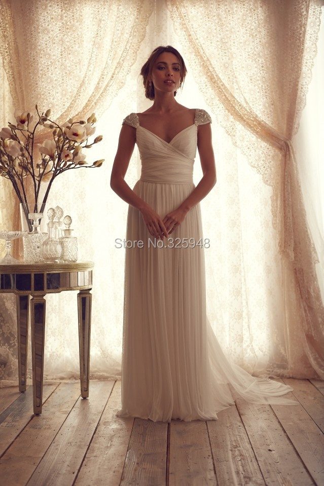 Simple,White,Beach,Wedding,Dresses,Style,2014,Bridal,