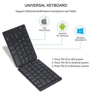 Image 2 - AVATTO miękka skóra przenośna angielska bezprzewodowa składana Mini klawiatura Bluetooth dla iOS, tabletu z systemem Android, ipada, telefonu