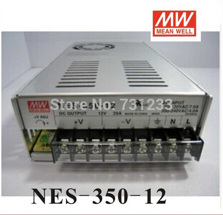 2pcs/lot Switching Power Supply 350W 12V 29A Single Output NES-350-12 for Embroidery Engraver Printer Plasma CNC Router Kits meanwell 12v 350w ul certificated nes series switching power supply 85 264v ac to 12v dc