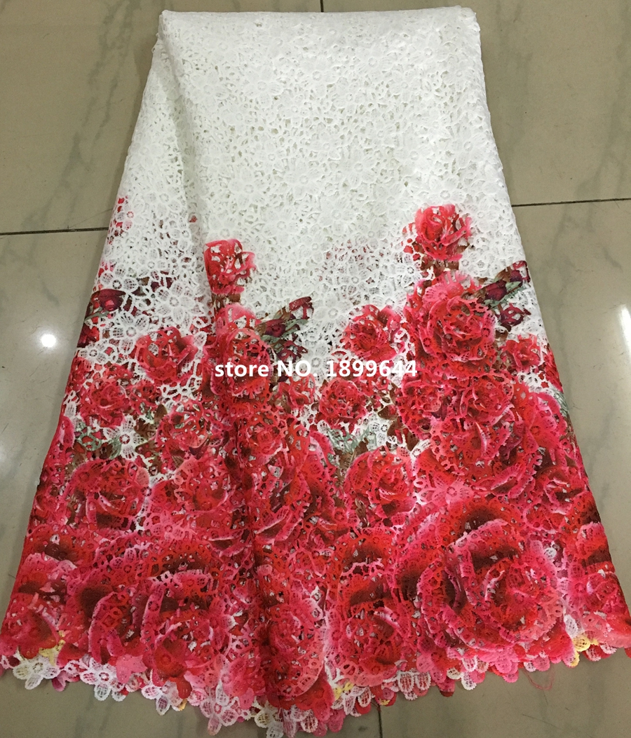 Free Shipping! Multi Color cord lace high quality chemical lace water soluble guipure lace fabric nigerian wedding dresses.ML657