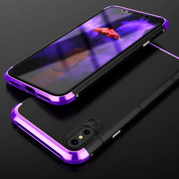 AAA+ Quality Showkoo Smartphone Cases For iPhone X(10) Metal aluminum + PC Back Slim Cover Luxury Case For iPhone X Case On Sale smartphone