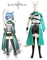 Sword Art Online GGO Shino Asada ALO Cait Sith archer Cosplay Costume Tailor Made