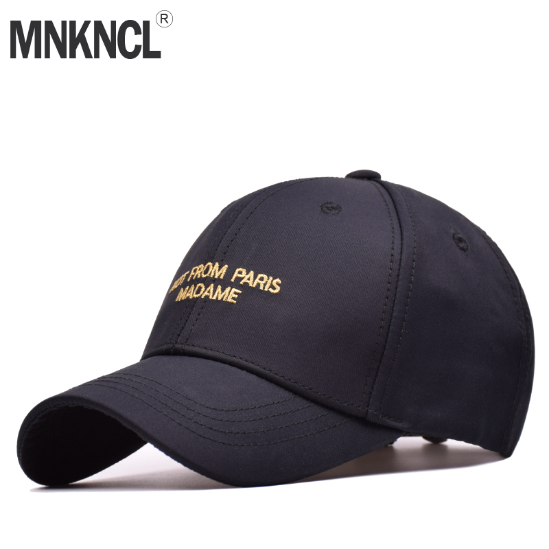 MNKNCL High Quality Baseball Cap 100%Cotton Snapback Cap NOT FROM PARIS MADAME Embroidery Hat For Men Women Caps cntang brand summer lace hat cotton baseball cap for women breathable mesh girls snapback hip hop fashion female caps adjustable