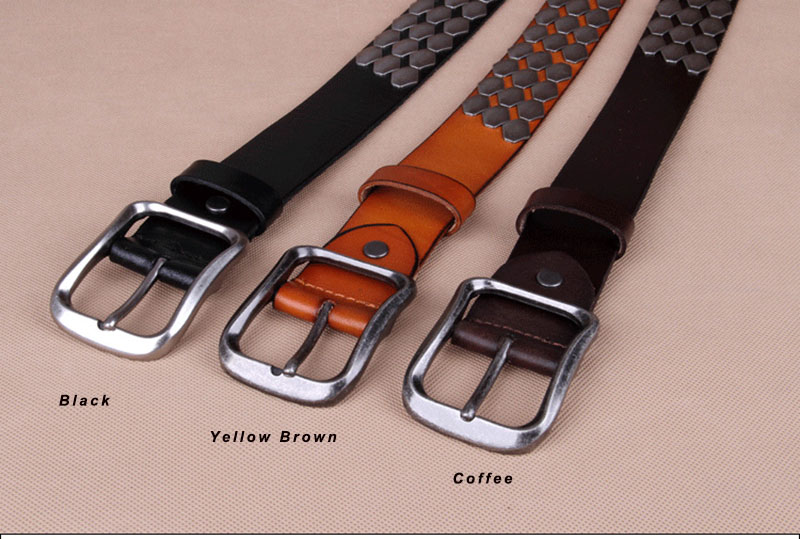 FAJARINA Quality 38mm Unique Design Fashion Unisex Retro Belt Scaly Hip Hop Belts for Men Women Jean Mens Geunine Leather NW0039 11