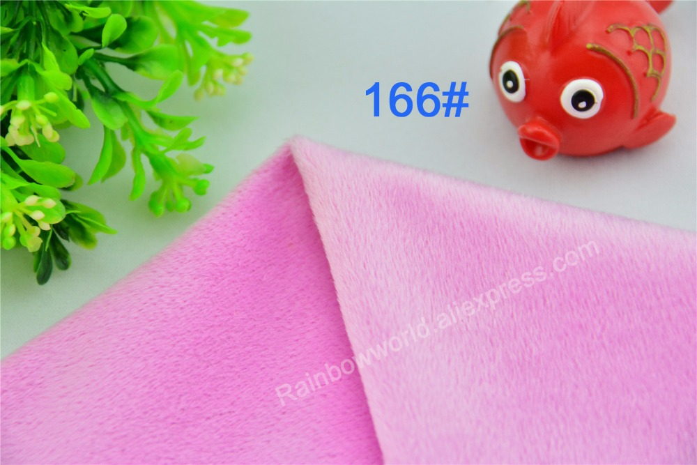 166# pink Super soft velvet fabric microfiber Fleece velboa hair height 2-3mm for DIY toy blanket pillow(1 meter)