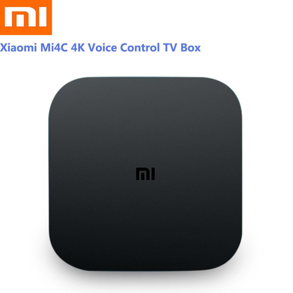 Xiaomi Mi4C Android TV Box 1GB 8GB Android 5 0 Amlogic S905L Quad Core  Bluetooth 4 1+EDR Set-Top Box 4K HDR Smart Media Player