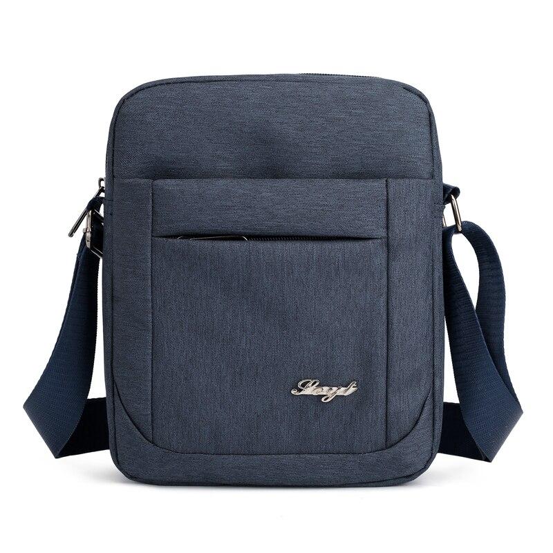 Solid Flap Bag College style Nylon Messenger Bag for Men Contracted Joker Crossbody Bag Lightweight Practical Shoulder Bag 2
