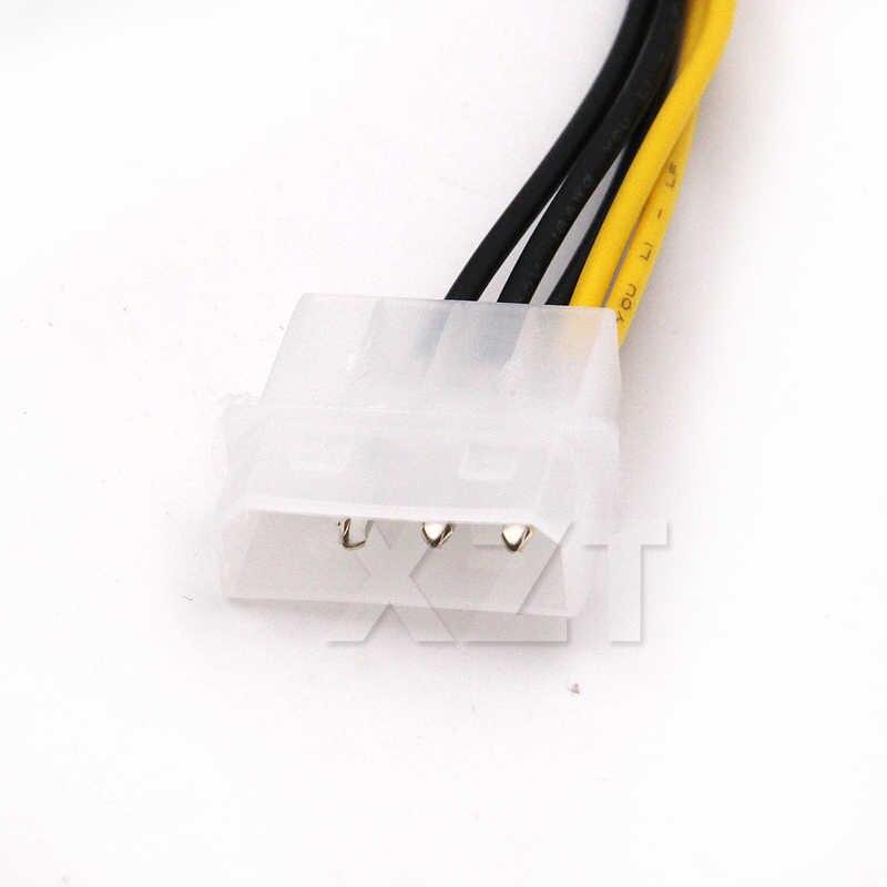 高品質 1 個 6 インチ 2 × モレックス 4 ピン 8 ピン PCI Express ビデオカード Pci-E ATX Psu 電源変換ケーブルビデオカードケーブル
