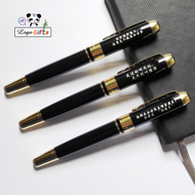 Super Birthday gift for your father good quality metal ball pen with wish text Happy birthday custom printed on the top