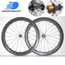 1482 г Супер легкий 700c 58 мм x 26 мм ямочками довод дорожный велосипед Углеродные колеса комплект велосипедных колес поверхность для гольфа Bitex втулки SL