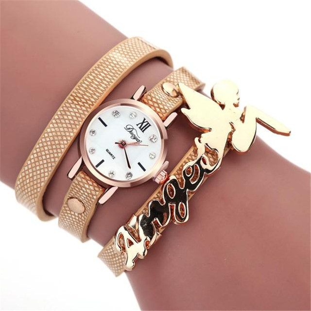 CLAUDIA Newest Luxury New Fashion Style Faux Leather Bracelet Watch Women Dress