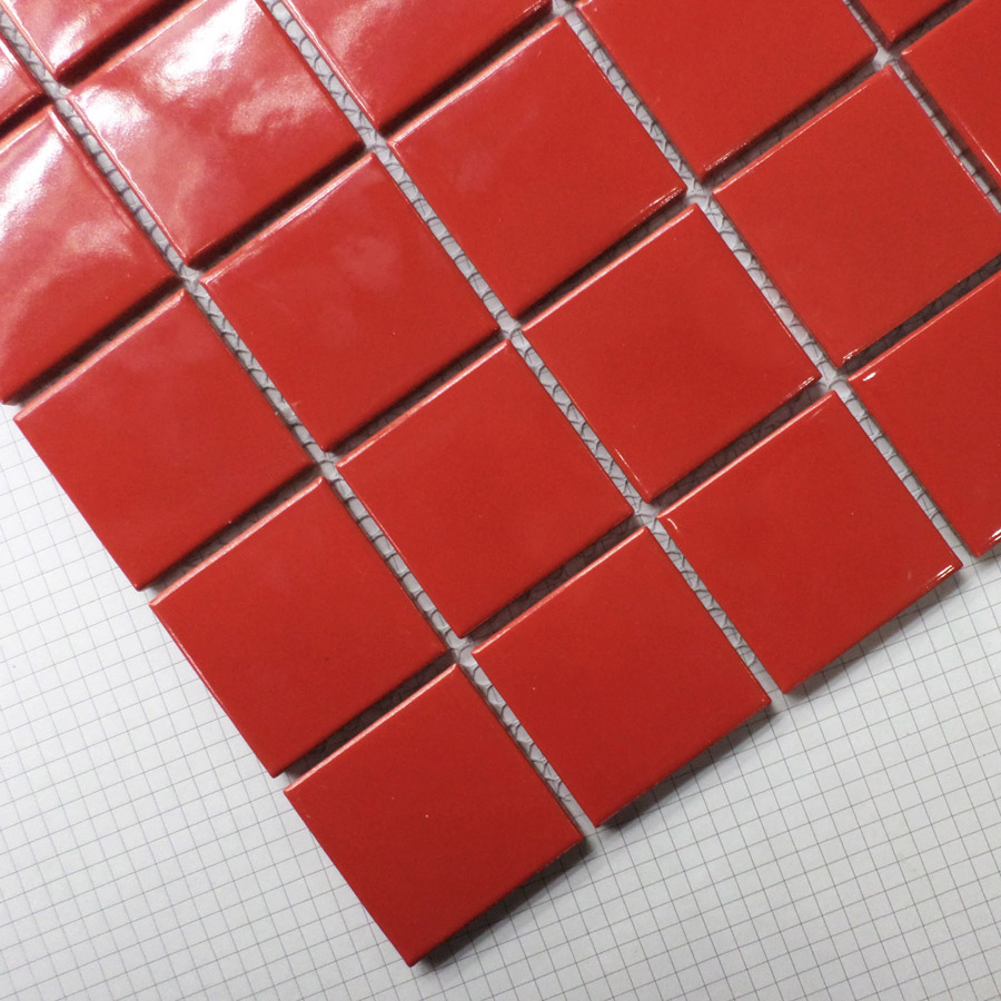 hot red square ceramic mosaic tile kitchen backsplash tile bathroom swimming pool wall tiles shower background porcelain tile
