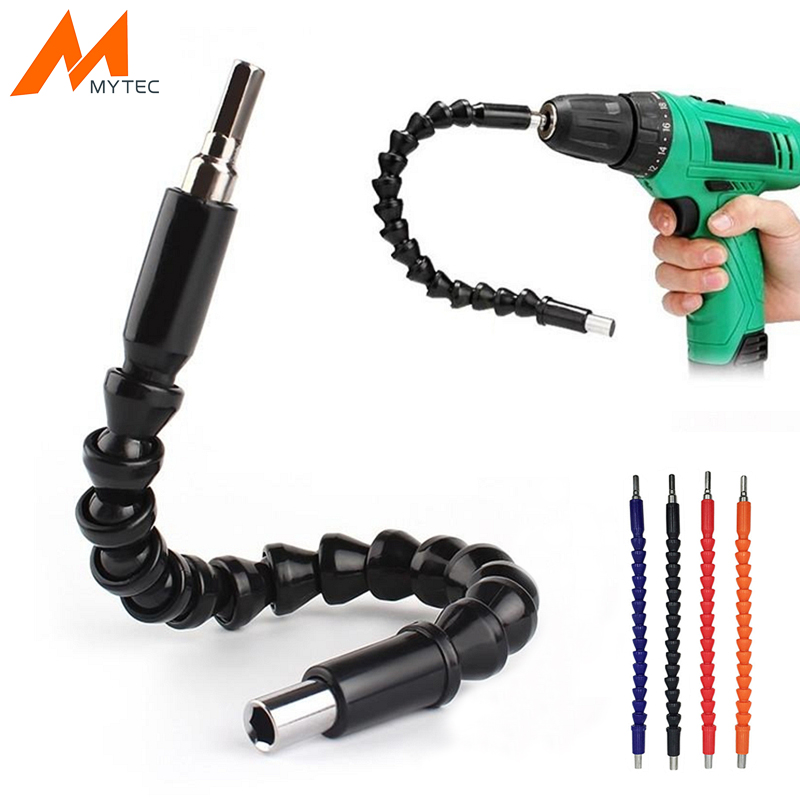 MYTEC 1/4''/6.35mm Flexible Drill Shaft Hex Connect 295mm Extention Screwdriver Bits Holder Rod Power Tool Accessories