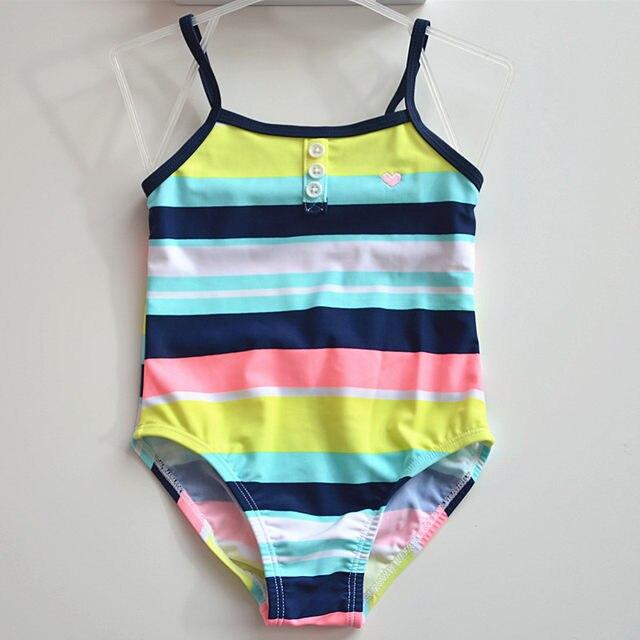 Online Shop 2018 Little Girls One-piece Striped Swimsuit Baby Girl ...