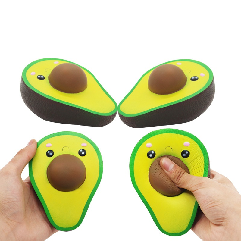 Simulation Avocado Fruit Squeeze Toy Pu Slow Rebound Cute Cartoon Kawaii Girl Boy Stress Reliever Soft Gifts For Kids Children