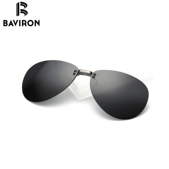 22cd183fee9 BAVIRON Al-Mg Myopie Clip sur lunettes de Soleil Sans Monture Clip Lunettes  Polarisées Lentilles