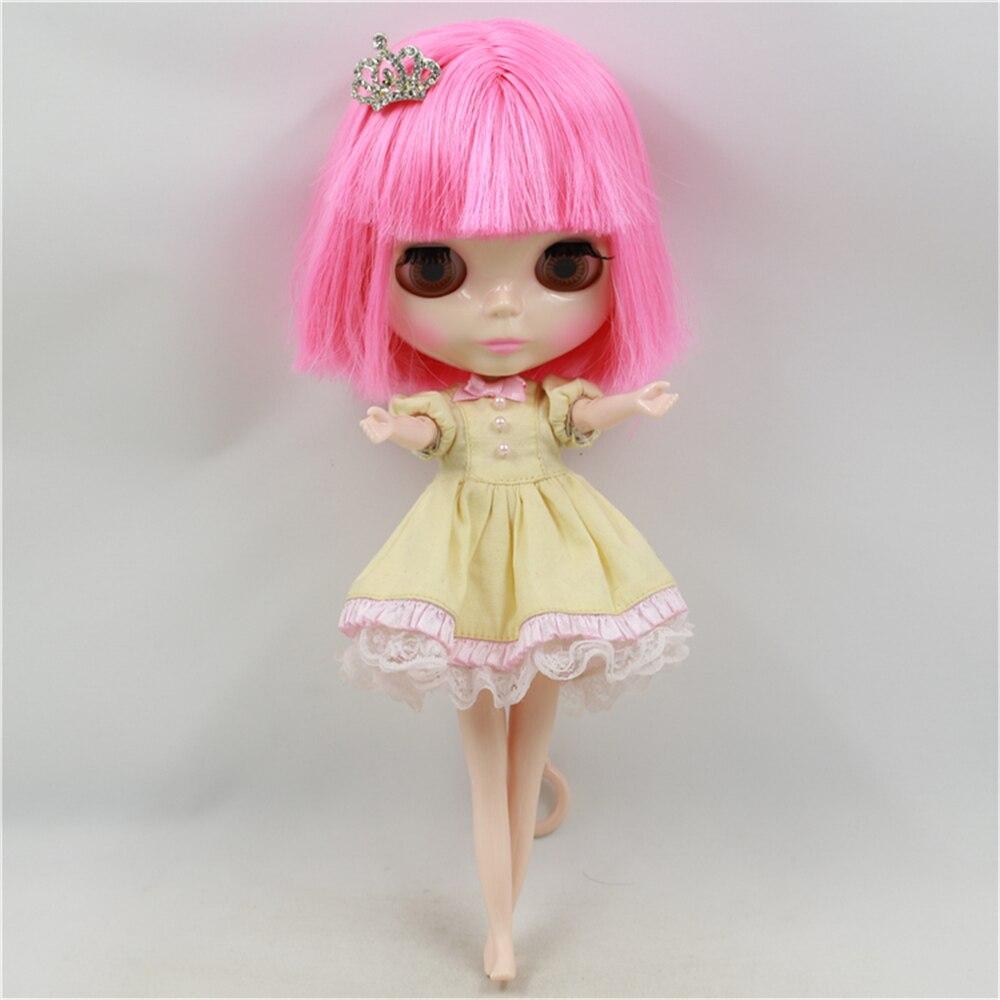 Fabriek Blyth Pop Naakt Pop Roze Kort Haar Met Pony Roze Mond Normale Body 4 Kleuren Voor Ogen Geschikt Voor DIY-in Poppen van Speelgoed & Hobbies op  Groep 3