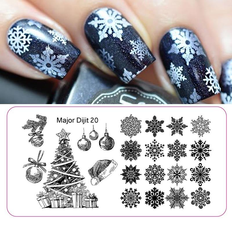 Stainless Steel Christmas Nail Art Decoration Snowflake Konad Nail Plates Stamping Image Template Nail Art Manicure DIY Tools
