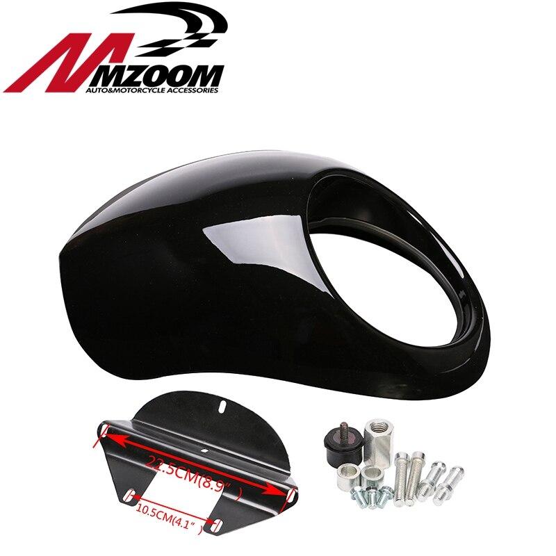 Livraison gratuite Noir Phare En Plastique Visière Avant Carénage Cool Masque Lunette Pour Harley 883 XL1200 Dyna Sportster FX Moto - 4