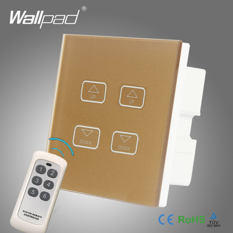 цена на 2pcs 4 Gang 2/3/4 Way Gateway RF WIFI Dimmer Wallpad Gold Crystal Glass LED Light WIFI Dimmer Dimming Touch Control Switch