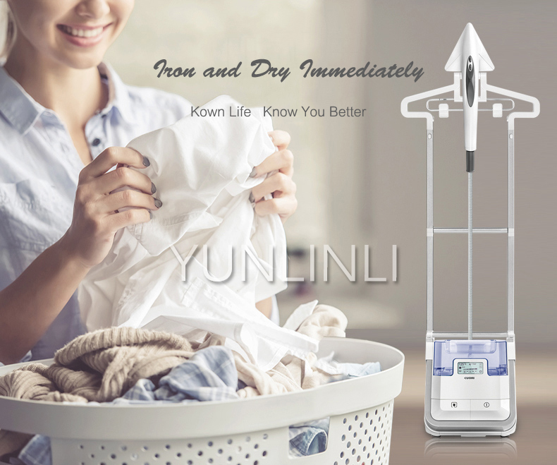 Handheld Cloth Garment Steamer Vertical Double Pole Ironing Machine Electric Cloth Steam Iron BG537UE household garment steamer 1 6l handheld clothes steamer vertical steam ironing machine ls 708d