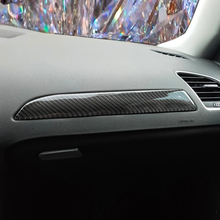 Dla Audi A4 B8 2009 2010 2011 2012 2013 2014 2015 2016 z włókna węglowego lewa strona kierowcy deska rozdzielcza pokrowiec dokoracyjny naklejka zgrabna