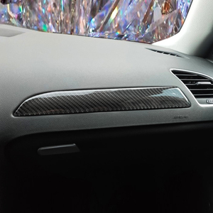 Image 1 - For Audi A4 B8 2009 2010 2011 2012 2013 2014 2015 2016 Carbon Fiber Left Driver Side Dashboard Decor Cover Sticker Trim