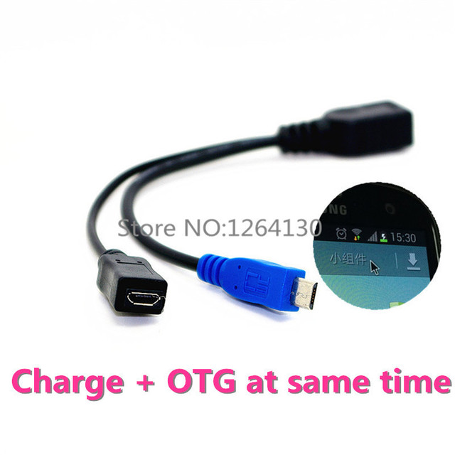 High Quality Micro USB Power Charging OTG Hub Cable Connector Spliter for Smartphone Computer Tablet PC