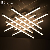 2018 New Modern Led Ceiling Chandelier Lights For Living Room Bedroom Square Art Indoor Acrylic Ceiling