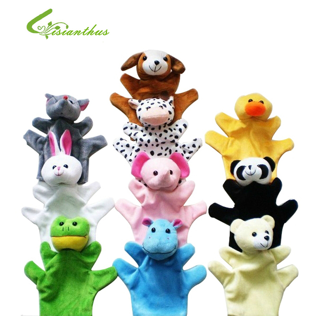 Cute Big Size Animal Glove Puppet Hand Dolls Plush Toy Baby Child