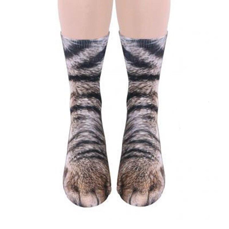 Novel Style Unisex funny men women socks hosiery cute animal Paw Crew cat dog print female sock winter wool warm lady Sokken Sox