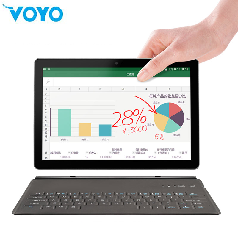 VOYO Tablet PC Android-7.0 Wifi X27 Deca-Core 64GB-ROM LTE 1920--1200 I8 MTK Max IPS