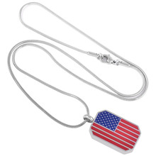 American Flag Urn Necklace