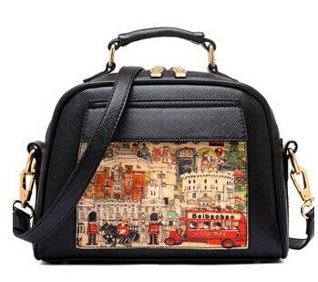 Летящие птицы! Женская кожаная сумка известных брендов, женские сумки-мессенджеры, женская сумка-мешок, высокое качество, женская сумка LS8235fb - Цвет: small black handbag