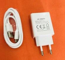 オリジナルの高速 2.0A旅行充電器euプラグアダプタ + usbケーブルoukitel K7 MT6750T送料無料