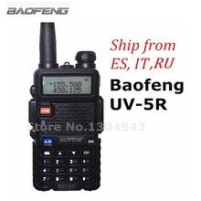BaoFeng UV-5R Walkie Talkie Negro CB Radios de Dos Vías VHF/UHF 136-174 y 400-520 MHz Dual Band Amateur Radio Portátil de mano