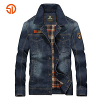 Senlin Jeep Acedenim Jackets Men 2017 Spring Summer Style Fashion Cotton Jacket Men Single Breasted Multi