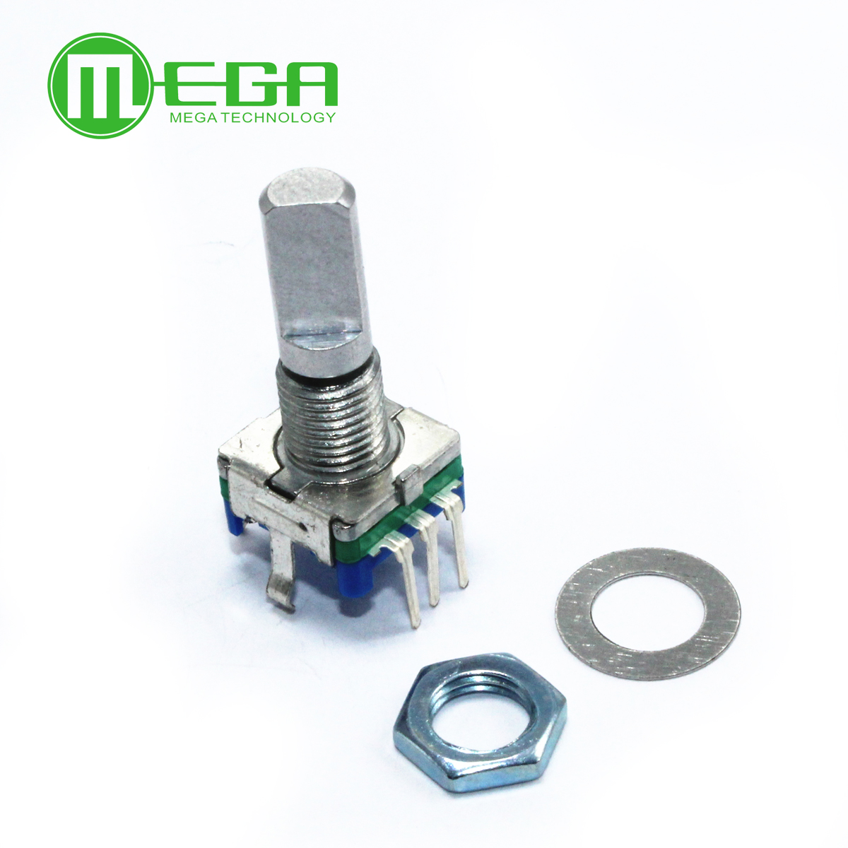 20pcs Rotary encoder,code switch/EC11/digital potentiometer,with switch,5Pin, handle length 20mm,free shipping