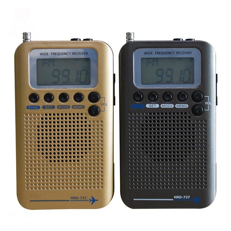 Flugzeug Band Radio Receiver VHF Tragbare Full Band Radio Recorder für LUFT/FM/AM/CB/VHF /SW Radio