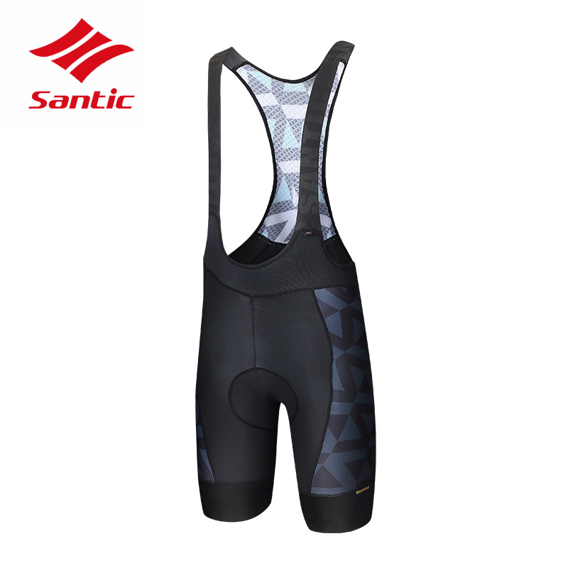 Santic Men Cycling BiB Shorts 2018 High Quality Breathable Road Bike Shorts Downhill Racing Bicycle Shorts Bermuda Ciclismo цена