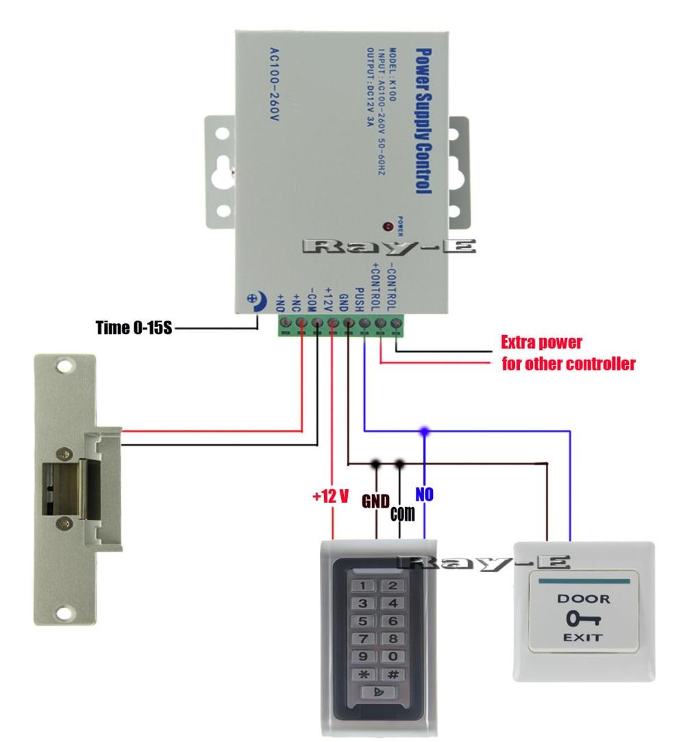 wiring diagram 1 x keypad  [ 1000 x 1083 Pixel ]