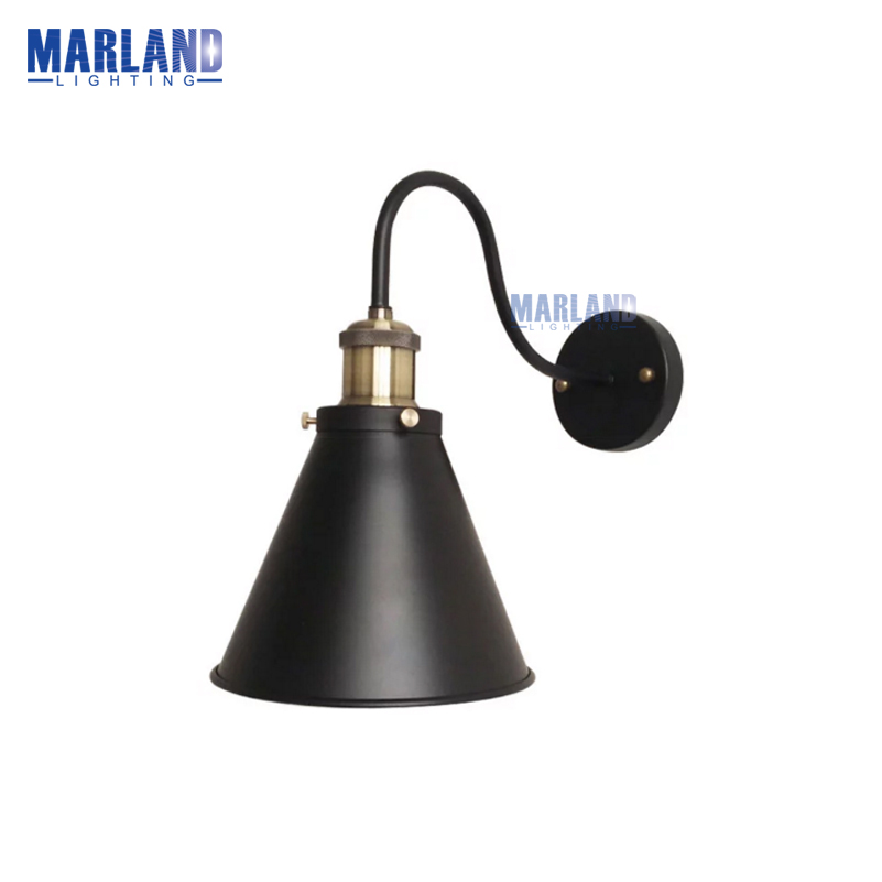 E27 Black Indoor Light Retro Sconces Wall Lamp LED Wall Lamps For  Bedside Bedroom Living Room Industrial Home Lighting(B50092) modern wall lamp glass ball led wall sconces bedside wall light fixture bedroom luminaria home lighting vintage lamp