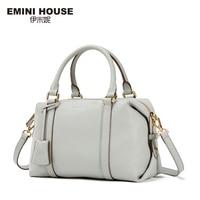 EMINI HOUSE Fashion Genuine Leather Boston Bag Women Shoulder Bags Luxury Ladies Handbags Women Messenger Bags