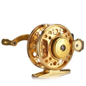 Image 5 - YUYU полностью Металлическая Рыболовная катушка для ловли нахлыстом, катушка для подледной рыбы из алюминиевого сплава, передаточное число 3,0: 1 4 + 1BB