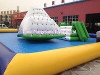 Grande gonfiabile iceberg l'aria piena di giocattoli