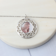 Heart Hollow Pattern Personalized Photo Necklace